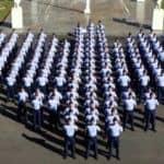 militares da FAB formados em força de avião