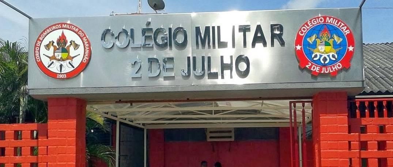 entrada do colégio militar 2 de julho
